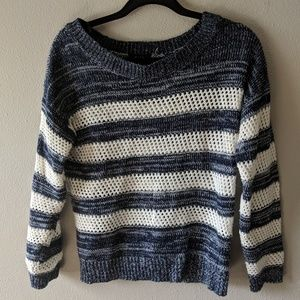 Mine Blue and White Striped Sweater